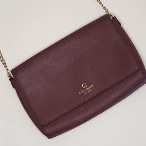 Kate Spade Deep Plum saffiano leather crossbody